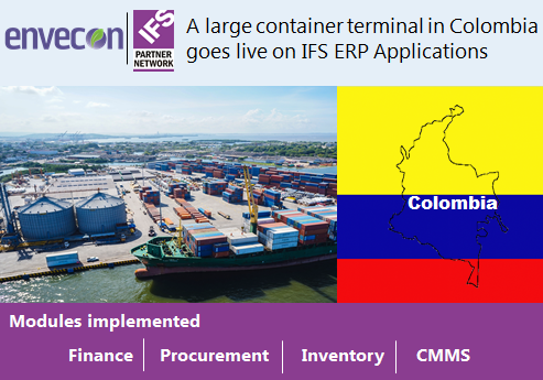 IFS ERP Application goes live in Colombia F